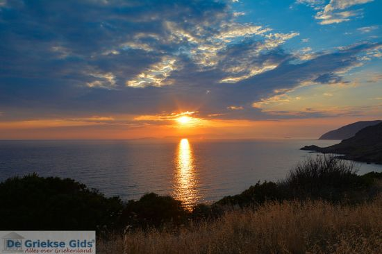 Zonsondergang in Kythira Griekenland